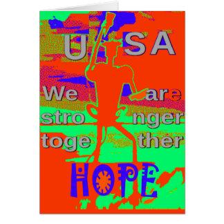 Färgrikt USA Hillary hopp är vi starkare Hälsningskort