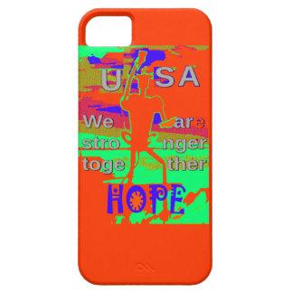 Färgrikt USA Hillary hopp är vi starkare iPhone 5 Skal
