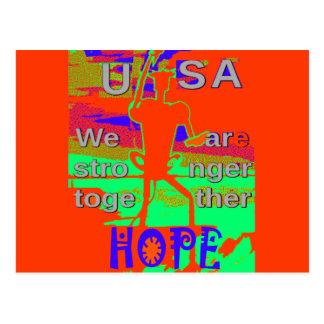 Färgrikt USA Hillary hopp är vi starkare Vykort