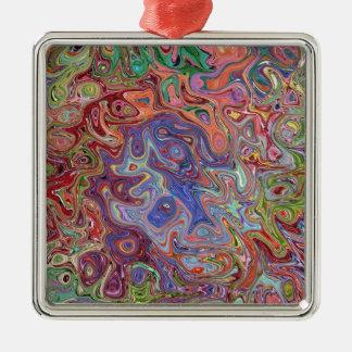 färgsalighet silverfärgad fyrkantigt julgransprydnad