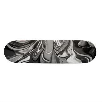 Färgspill (i svartvitt) old school skateboard bräda 21,6 cm