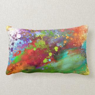 färgstänk kudder ljus färgrik abstrakt konst lumbarkudde
