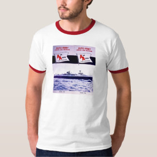 Färja Lake Michigan för bil för vintageAnn Arbor T-shirt