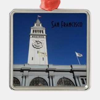 Färja som bygger San Francisco Julgransprydnad Metall