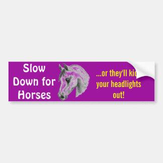 farliga hästar bildekal