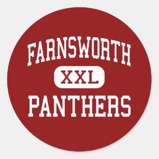 Farnsworth - pantrar - mittet - Sheboygan Runt Klistermärke
