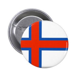 Faroe Island (Danmark) flagga Standard Knapp Rund 5.7 Cm