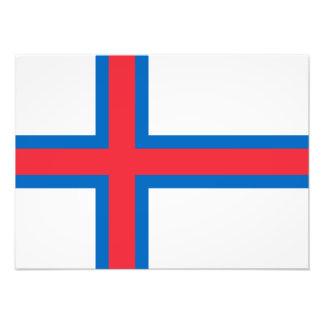 Faroe Island flagga Fototryck