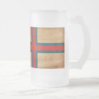Faroe Island flagga Frostat Ölglas