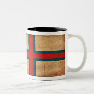 Faroe Island flagga Två-Tonad Mugg