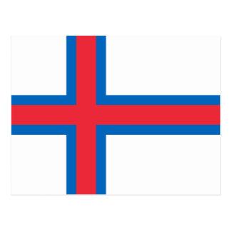 Faroe Island flagga Vykort