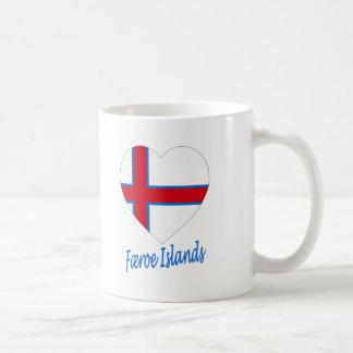 Faroe Island flaggahjärta Kaffemugg
