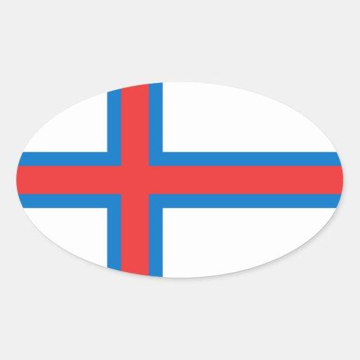 Faroe Island sjunker den ovala klistermärken