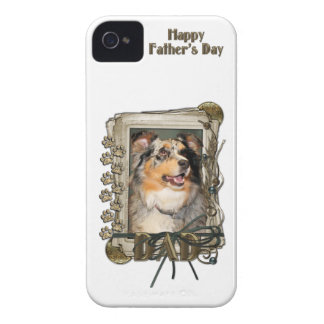 Fars dag - stentassar - australian shepherd iPhone 4 case