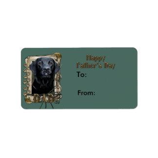 Fars dag - stentassar - Labrador - svart Adressetikett