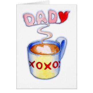 Fars dagkaffemugg av kärlek hälsningskort