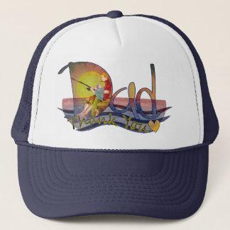 Fars dagpappa- & sonfiske tackar dig hattar truckerkeps