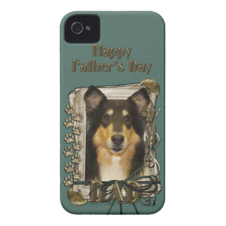 Fars dagPAPPA - sten tafsar - Collie - Caroline Case-Mate iPhone 4 Fodraler