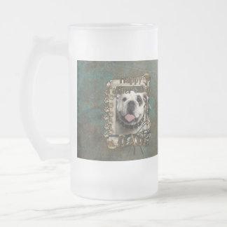Fars dagPAPPA - stentassar - bulldogg Frostat Ölglas