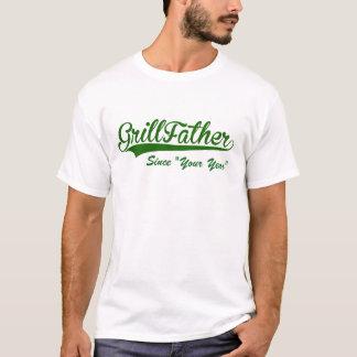 fars dagpersonlig Grillfather. (Ditt år) T-shirt