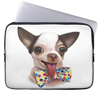 Fartfylld laptop sleeve för pojkepojkeChihuahua
