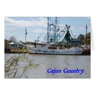 Fartyg på flodarmen hälsningskort