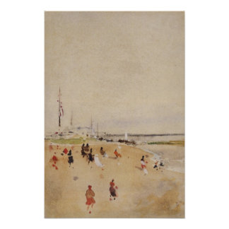 Fartyg vid James Abbott McNeill Whistler Poster