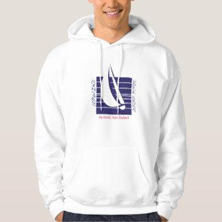 FartygblåttSquare_UpDown Auckland t-skjorta Tröja Med Luva