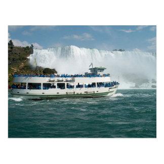Fartyget seglar Lake Ontario Niagara River Vykort