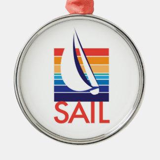 FartygfärgSquare_Sail halsband Julgransprydnad Metall