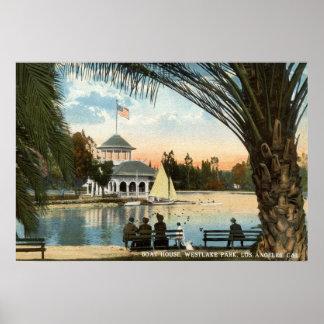 Fartyghuset, Westlake parkerar Los Angeles vintage Poster