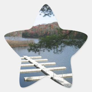 Fartygskeppsdocka Stjärnformat Klistermärke