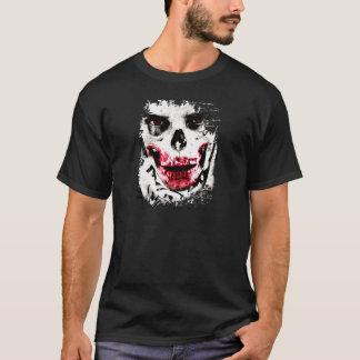 Fasa för man för skalleansikteZombie kuslig T Shirts