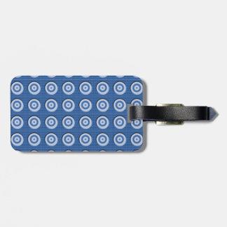 Fasad blåttvit cirklar mönster bagagebricka