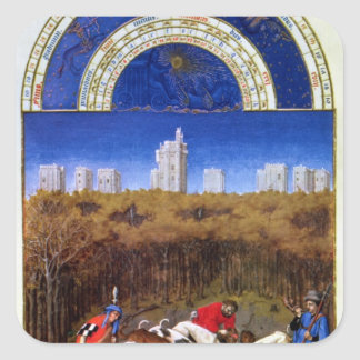 Fascimile av December Fyrkantigt Klistermärke