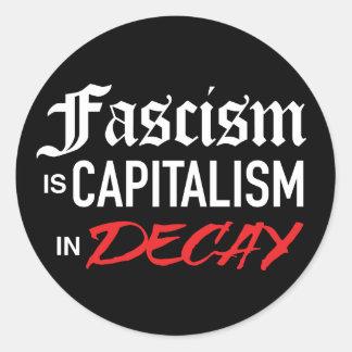 Fascism är kapitalism förfaller in klistermärken