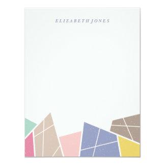 Fasetterar brevpapper - blåklint 10,8 x 14 cm inbjudningskort