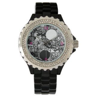 Fashionably varmt och rosor armbandsur
