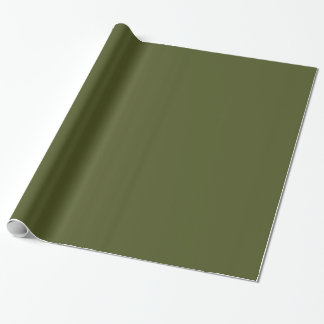 Fast armégrönt presentpapper