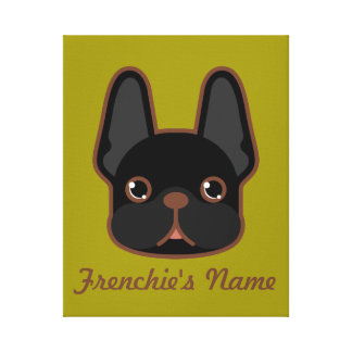 Fast Brindle Frenchie anpassad design Canvastryck
