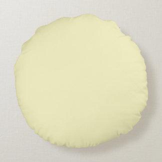 Fast färg för citronChiffon Rund Kudde