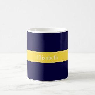 Fast marinblått, Monogram för ananasbandnamn Kaffemugg