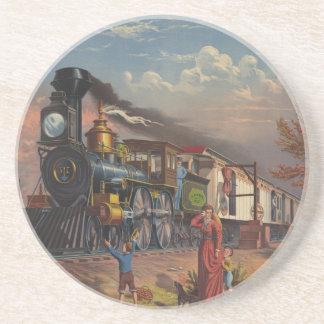 Fasta postar postgångtåg från 1875 underlägg sandsten