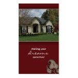 Fastighethusvisitkort burgundy visit kort