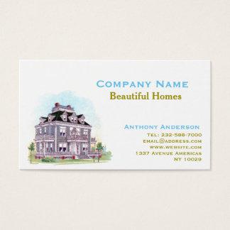 Fastighetsmäklare, omdana och arkitektur visitkort
