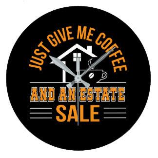 Fastighetsmäklarekaffe ger mig kaffe- och godsSale Stor Klocka