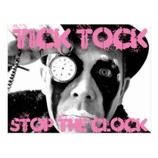 Fästingen Tock, stoppar ta tid på Vykort