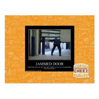 Fastklämd dörr vykort