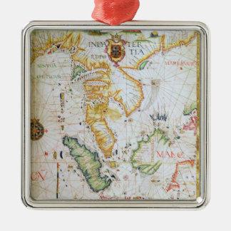 Fastlandet South East Asia, specificerar från Julgransprydnad Metall