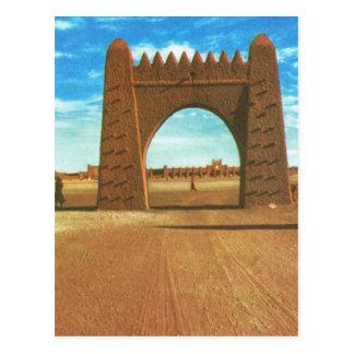 Fästning för kopiavintageöken på Adrar, Sahara Vykort
